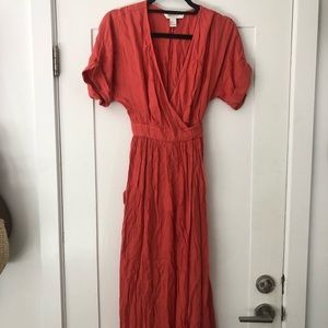 Forever 21 coral wrap dress never worn